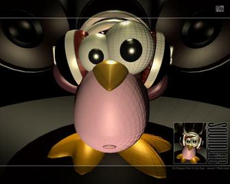 Ests aqu Inicio Animacin Pingino Pink Linux