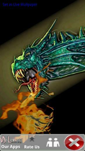 Download Fire Breathing Dragon Live Wallpaper for your