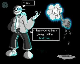 Sans lesson for Flowey by Trelock