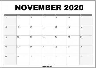 November 2020 Calendar Wallpapers   Top November 2020
