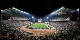 View of UWs Husky Stadium during historic last game before stadium