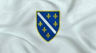 Republic of Bosnia and Herzegovina Flag Wallpaper by Edinev on