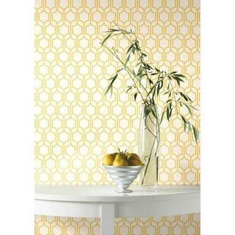 Removable Wall Decals   Trellis Wallpaper   Marigold White I Wall