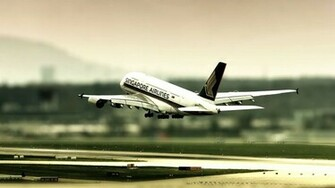 Airbus A380 Singapore Airlines Landing HD Wallpaper FullHDWpp