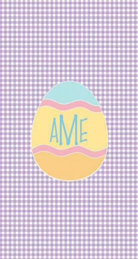 Monogrammed Easter egg iphone wallpaper by Haley H Made with