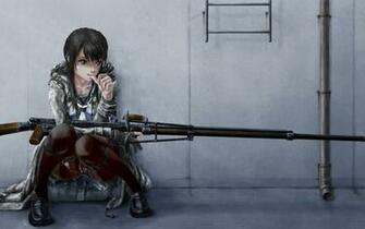 Anime Sniper Girl HD Wallpaper Desktop PC Background