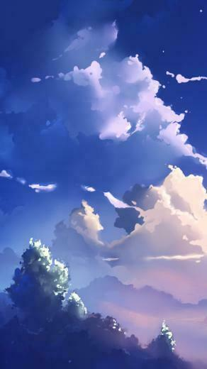 iPhone 5 wallpapers HD   Anime scene   clouds Backgrounds