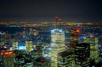 Description A view of Toronto at nightjpg