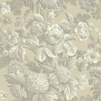 Beige and Grey Antique Floral Wallpaper   Wall Sticker Outlet