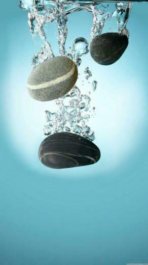 Stones falling in water Phone Wallpapers Iphone 6 plus