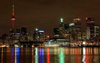 Toronto City Skyline At Night Wallpaper 1440x900 pixel City HD