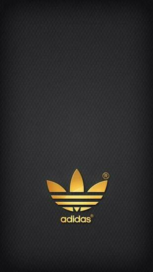 Golden Adidas on grey background iPhone 5 Backgrounds