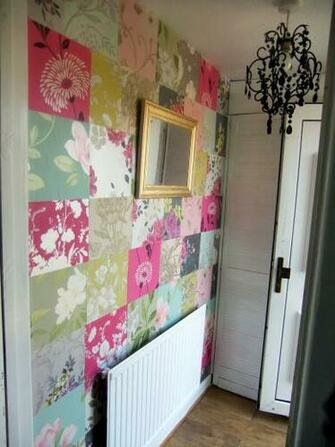 wall of patchwork Interior inspiration Pinterest