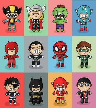 Cute Superheroes Wallpaper Images Pictures   Becuo