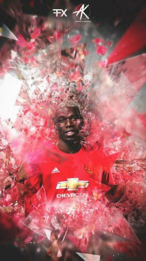 Paul Pogba Manchester United iPhone Wallpaper   iPhone