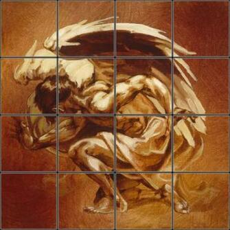 Tile Mural 20 16x16 Reptile