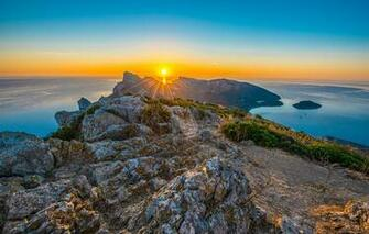 Picture Rays of light Majorca Mallorca Spain Cap de Formentor