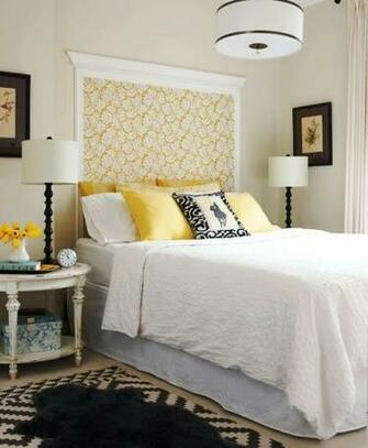 crown molding and wallpaper as headboard Pillows Headboards Pin