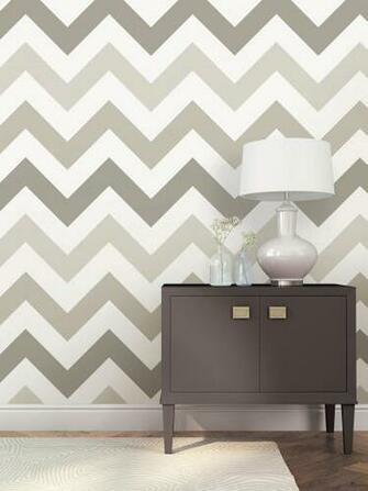 WallPops Taupe Zig Zag Wallpaper Roll Reviews Wayfair
