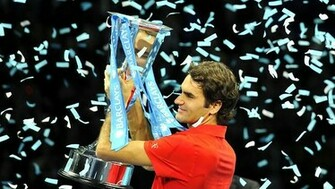 ATP World Tour Finals 2010 Winner Roger Federer