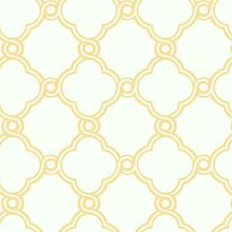 Yellow with White Open Trellis Wallpaper   Wall Sticker Outlet