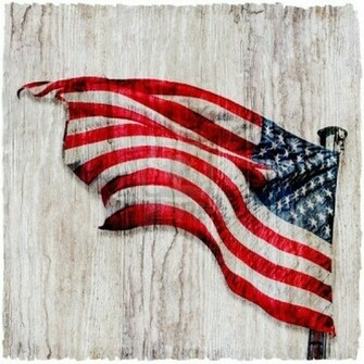 American Flag Background Vertical 4th of July