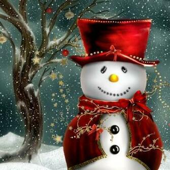 iPad Wallpapers Download Christmas Snowman iPad mini Wallpapers