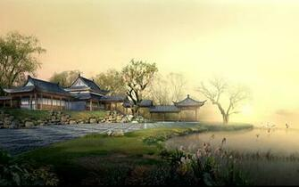 Chinese landscape wallpaper 5 1152x720 Chinese landscape wallpaper