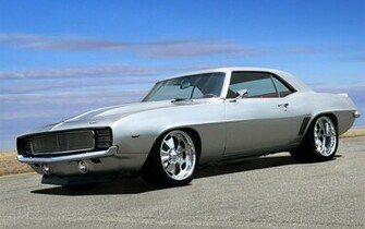 muscle carsAmerican american muscle cars silver 1969 chevrolet camaro