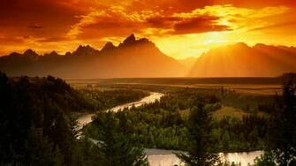 river wyoming rivergrand teton national park 1920x1080 HD Wallpaper
