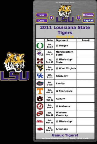 tigers football schedule schedules 2011 lsu tigers football schedule