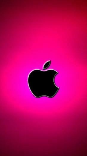 Hot Pink Apple Logo HOT Pink papeis de parede para