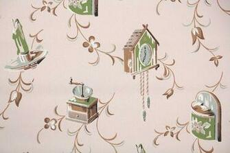 1940s 1950s Vintage Wallpaper 1950s Kitchen Vintage Wallpaper