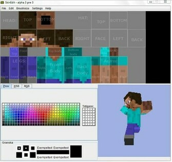screenshot for Minecraft SkinEdit   Create Your Own Minecraft skins