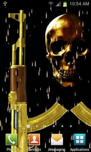 View bigger   Gold AK47 Live Wallpaper for Android screenshot