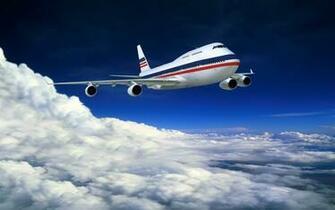 Airplane In Flight Wallpaper