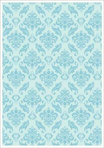 Blue Vintage Design On Pale Blue Background Printable Scrapbook Paper