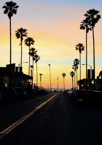 Beautiful Sunset at Venice Beach California The Wide Wonderful