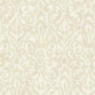 Beige White Emerson QE14004 Wallpaper   Traditional Wallpaper