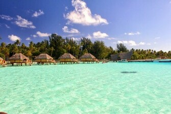 Magnificent Bora Bora Green Blue Lagoon Hd Wallpaper Wallpaper List