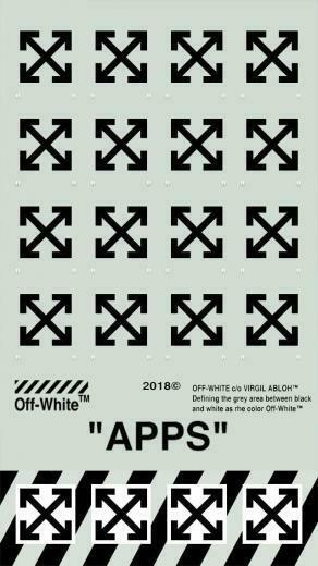 OFF WHITE iPHONE 55s Wallpaper APP X FIT iPhone8 Shoes