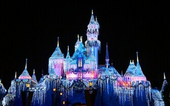 Disney Castle Pink and Blue Wallpapers Disney Castle Pink