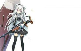 Chaika with a rifle in Chaika   The Coffin Princess HD desktop