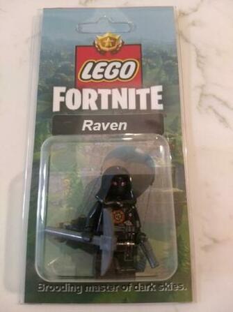 NEW LEGO Custom Raven Minifig Fortnite Battle Royale Skins Pickaxe