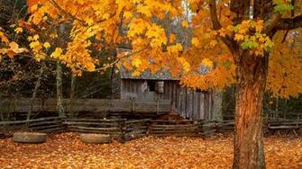 Autumn Cabin Wallpaper 1920x1080 Autumn Cabindownloads