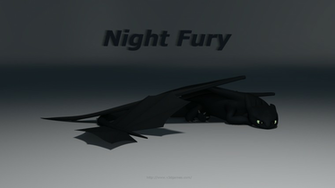 Visual 3D Technology   Night Fury Model