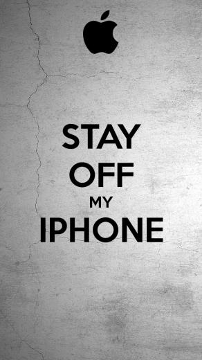 STAY OFF MY IPHONE   KEEP CALM AND CARRY ON Image Generator