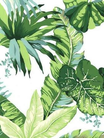 Inspired by the Beverly Hills Hotel Palm Leaf Wallpaper Style Scout