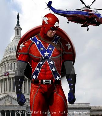 Confederate Captain America by KreigAntonelli