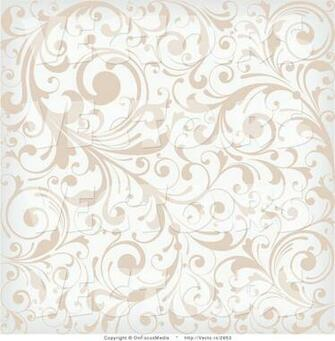 vector of beige and white background pattern with leafy vines by
